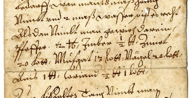 Medieval manuscripts and Xmas recipes, abbey library a trove