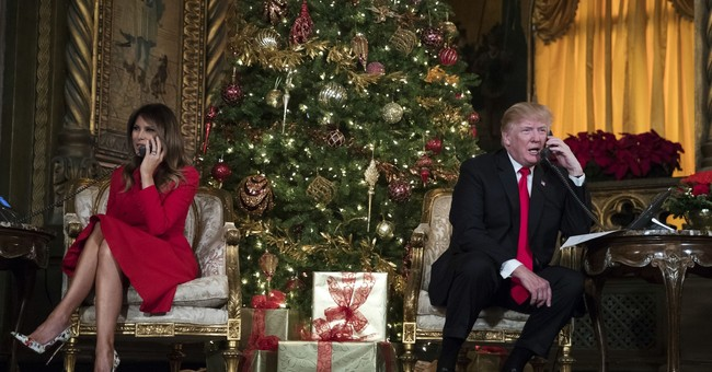 Trump's busy Christmas Eve: calls to troops, talk of Santa