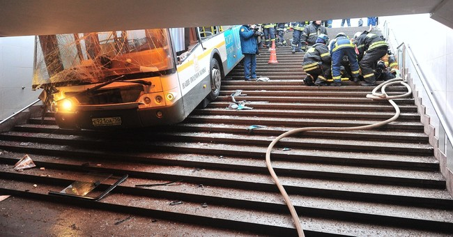4 killed in Moscow when bus crashes into underground passage