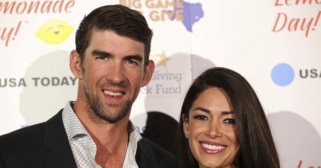 Michael Phelps makes political Super Bowl pick