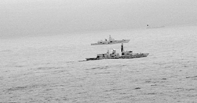 British navy escorts Russian warship near UK waters