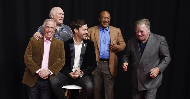 Bradshaw, Foreman, Winkler, Shatner bond on European TV trip
