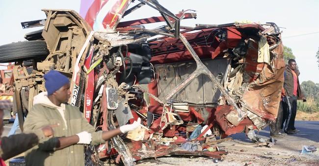 Crash between truck and bus in Kenya kills at least 36