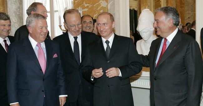 Pats' owner Kraft has won 5 rings, but 1 belongs to Putin