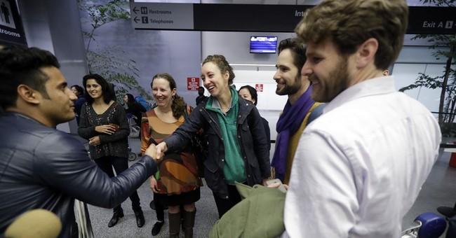 Soldier welcomes Afghan translator to US with bear hug