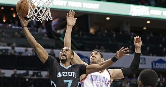 Batum scores 28 points, Hornets beat Thunder 123-112