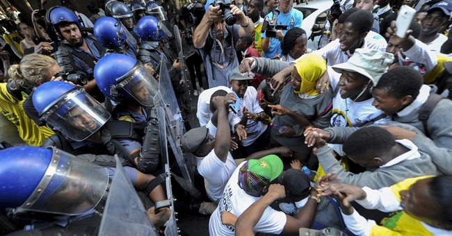 South African lawmakers brawl during protest of president