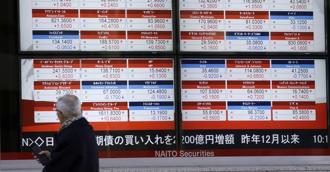 World stocks extend gains sparked by Trump tax cut vow