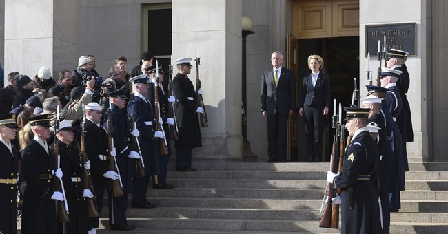 German defense minister visits US, calls NATO demands 'fair'