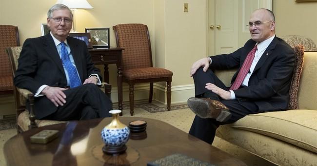 The Latest: Mnuchin sworn in as treasury secretary