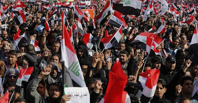 Rockets hit Baghdad's Green Zone after protests turn violent