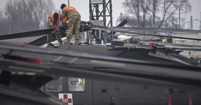 US helicopters unloaded in Germany to boost combat presence