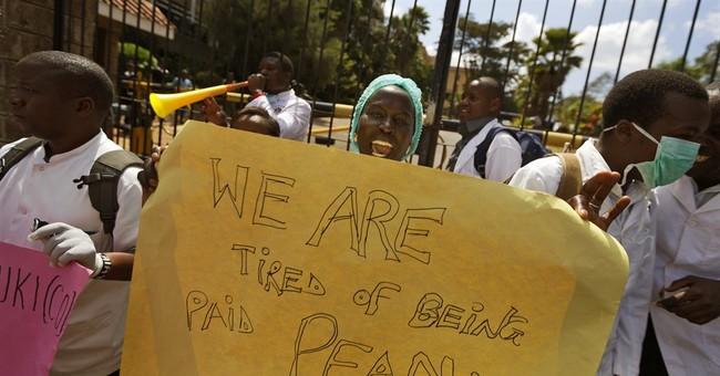 7 Kenyan doctors jailed for not ending strike