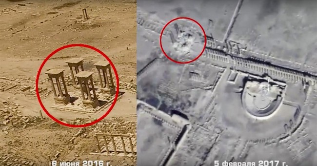 Russian video raises alarm: New IS damage in Syria's Palmyra