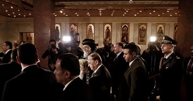 Lebanese president in Egypt, day after defending Hezbollah