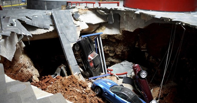 Work beginning to repair sinkhole-damaged Corvette