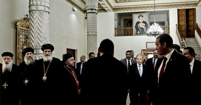 Lebanese president in Egypt, day after defending Hezbollah