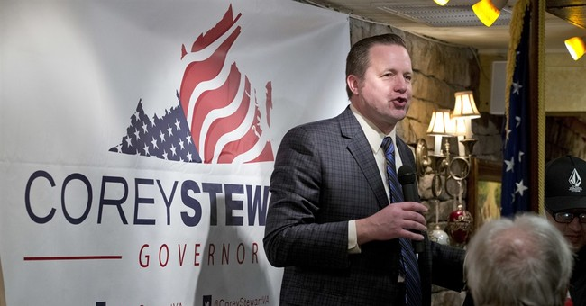 Governor's races in 2 states echo the White House contest