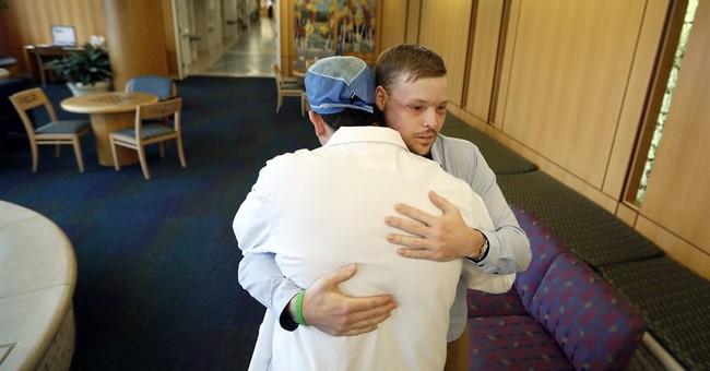 AP Exclusive: Twin tragedies give survivor a new face