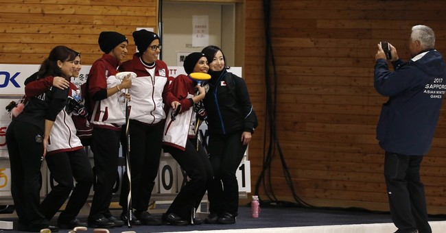 Desert to ice: Qatar takes on curling at Asian Winter Games