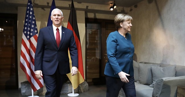 The Latest: Pence offers Ukraine's president support