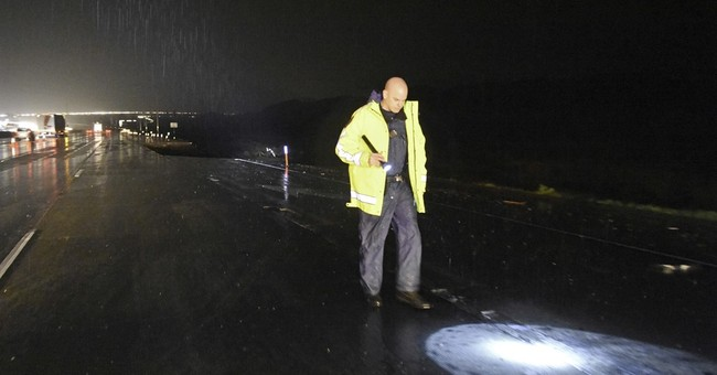 The Latest: Water levels at lake keep falling despite rain