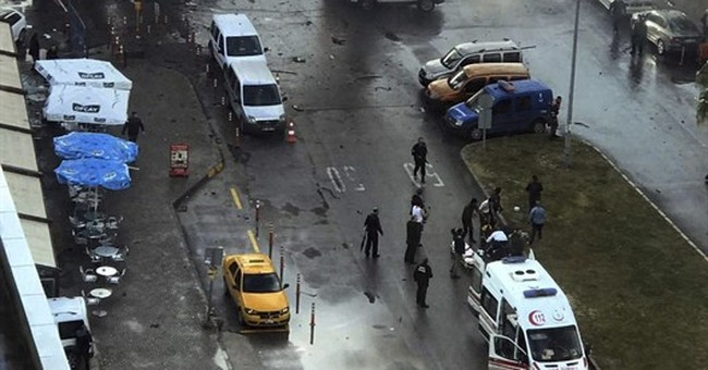 2 killed in car bombing in Turkish city; 2 attackers dead