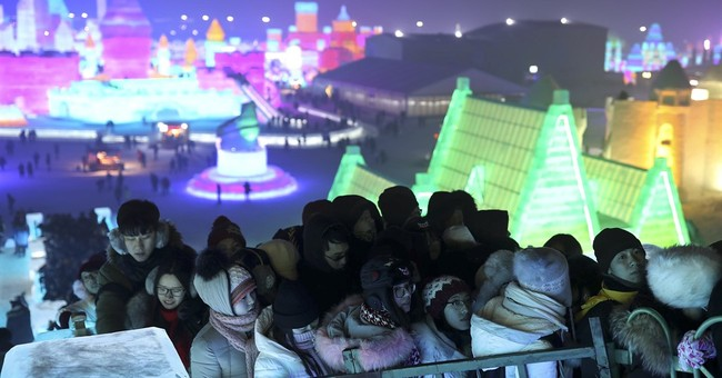 Frigid northern China hosts snow and ice sculpture festival