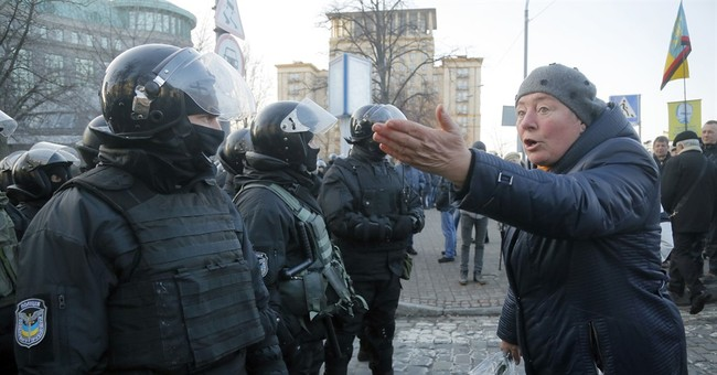 5 arrested in Kiev clash between nationalists, police