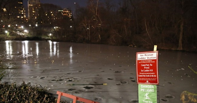 6 teenagers fall through ice into Central Park pond, rescued