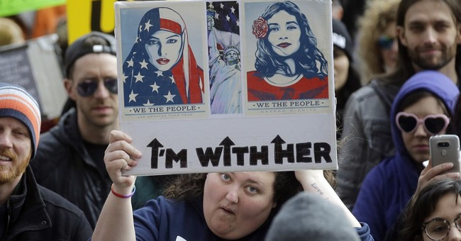 Thousands of demonstrators across US say 'Not My President'