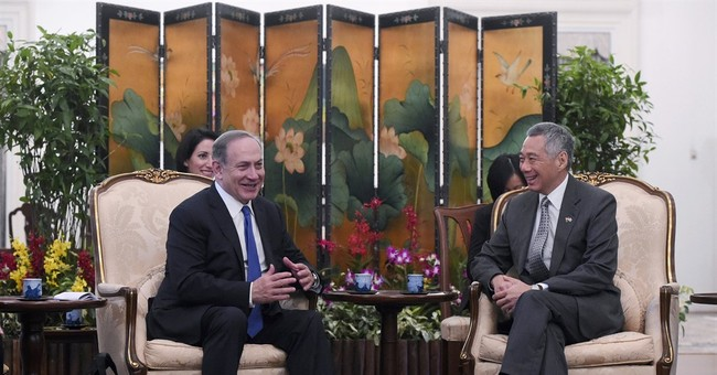 Singaporean PM, hosting Netanyahu, endorses 'two-state' plan