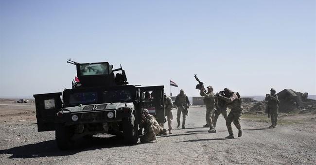 Iraqi troops advance on western Mosul as Mattis holds talks