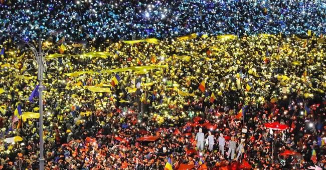 Romanian creativity is hallmark of huge anti-graft protests