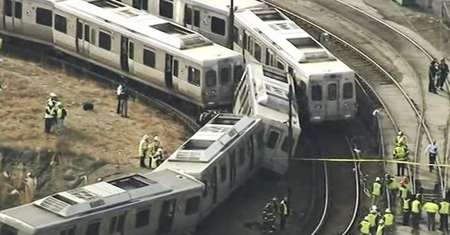 Subway crash in railyard injured 4 near Philadelphia