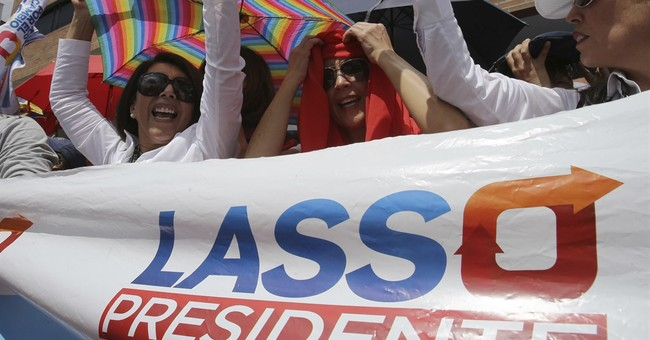 Tensions mount as Ecuador's presidential race up in the air