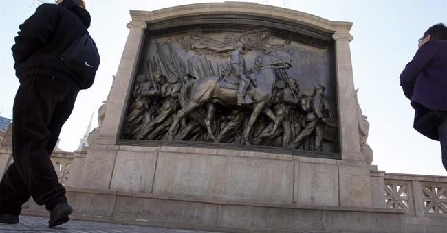 Sword breaks off Civil War memorial; vandalism suspected
