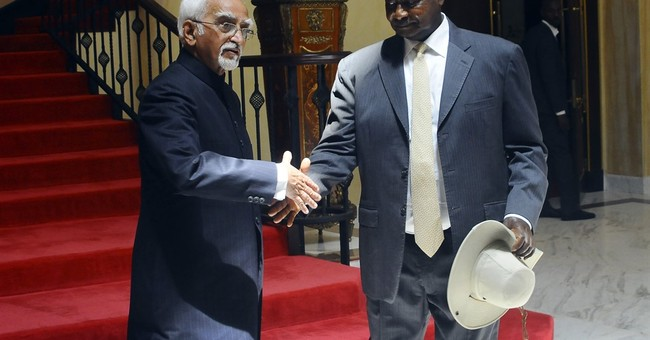 India's vice president visits Uganda, meets president