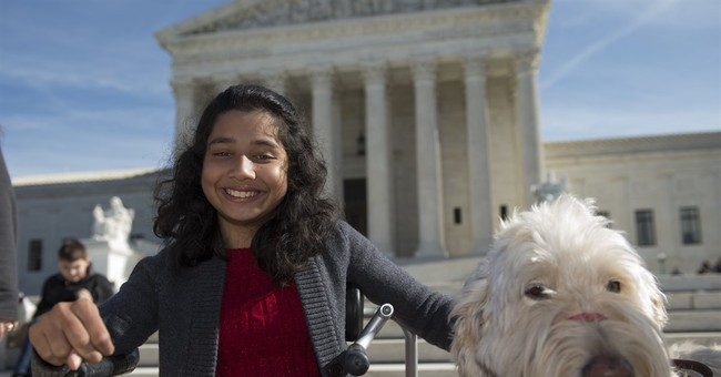 Justices side with Michigan girl in dispute over service dog