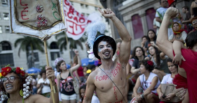 Brazil's Carnival revelers channel anger against president