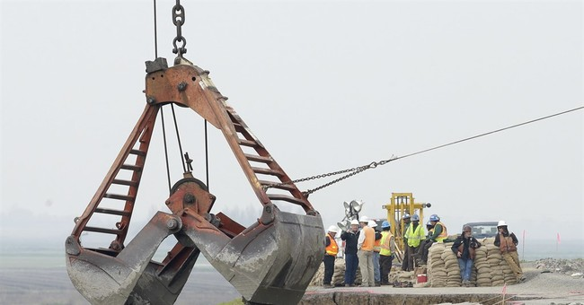Rural California levees besieged by pounding wet winter