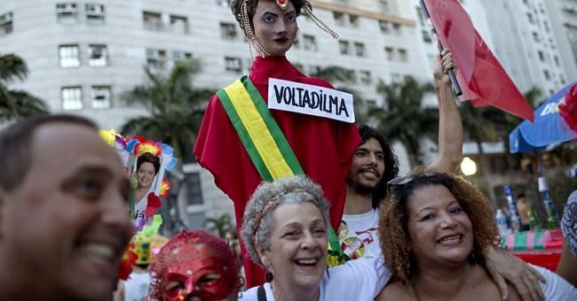 Brazil's Carnival revelers channel anger against president
