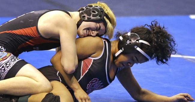 Transgender boy 2 wins away from girls state wrestling title