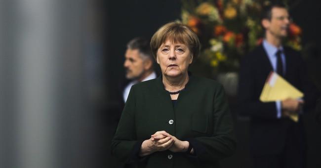 Germany's Merkel: keep working on 2-state Mideast solution