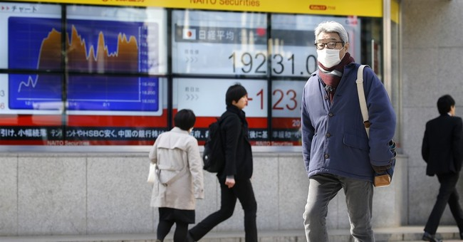 World stocks edge higher before Trump speech, China congress