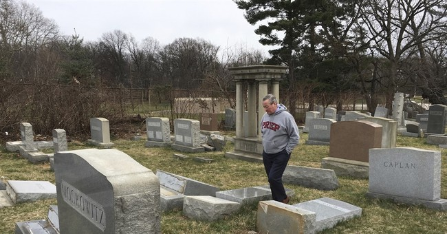 The Latest: $50,000 reward in Jewish cemetery vandalism