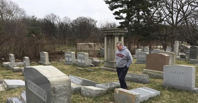 The Latest: $50,000 reward in Jewish cemetery vandalism