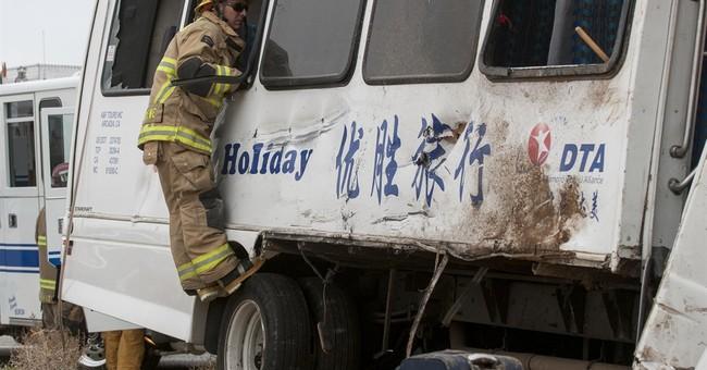 Fresno to Vegas charter bus crashes, killing 1, injuring 26
