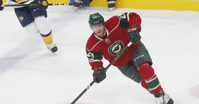 Quarantined Parise, Pominville out for Wild with mumps