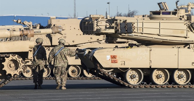 US tanks roll into Germany to bolster NATO deterrent